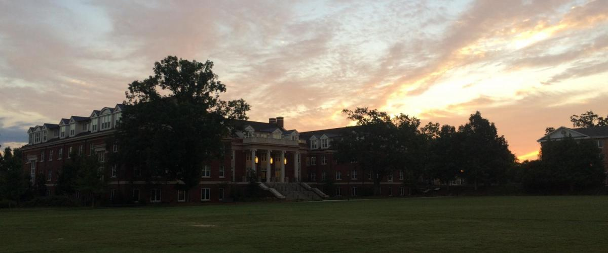 Rutherford Hall at Sunset