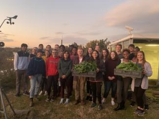 FRC members on the Green Roof Garden