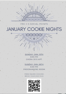 January Cookie Nights poster